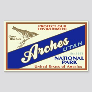 Arches (Warbler) Rectangle Sticker
