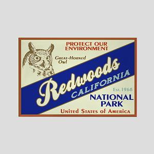 Redwoods (Owl) Rectangle Magnet
