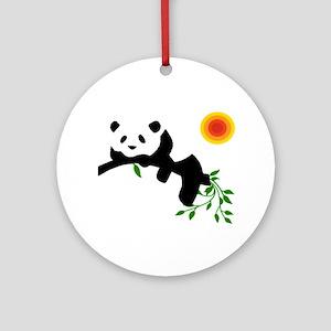 Resting panda bear! Ornament (Round)