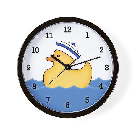 Ducky Boy (bg) Wall Clock