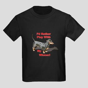 Play With My Wiener Kids Dark T-Shirt