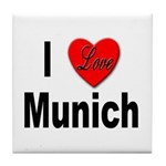 I Love Munich Tile Coaster