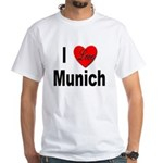I Love Munich (Front) White T-Shirt