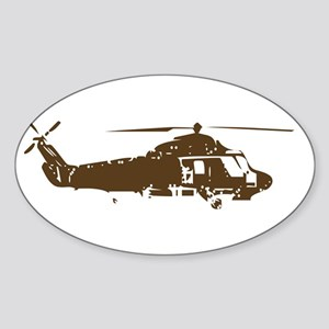 COPTER Oval Sticker