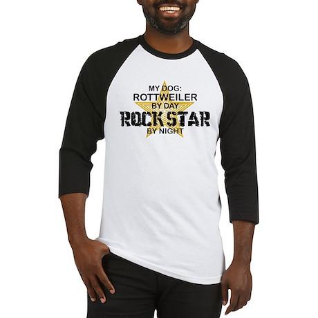 Rottweiler RockStar by Night Baseball Jersey