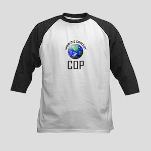 World's Coolest COP Kids Baseball Jersey