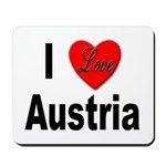 I Love Austria Mousepad