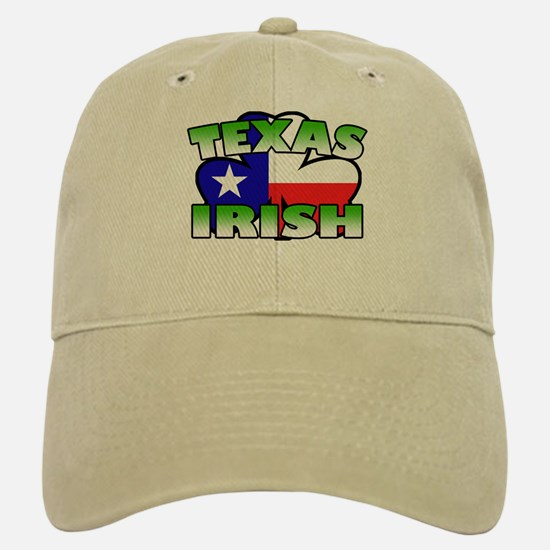 Texas Irish Shamrock Baseball Baseball Cap