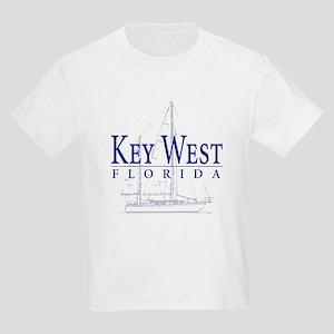 Key West Sailboat - Kids Light T-Shirt