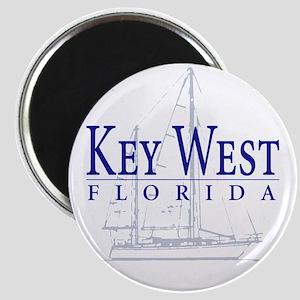 Key West Sailboat - Magnet