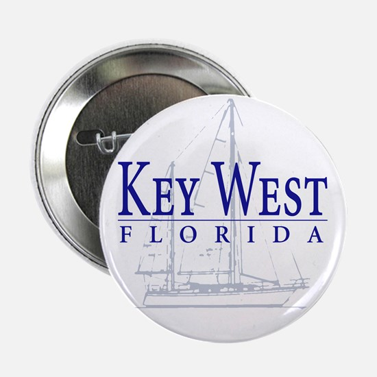 "Key West Sailboat - 2.25"" Button"