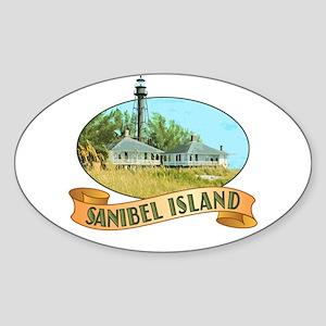 Sanibel Lighthouse - Oval Sticker