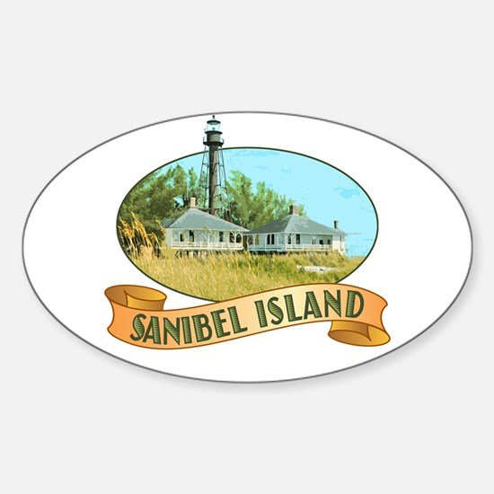 Sanibel Lighthouse - Oval Stickers