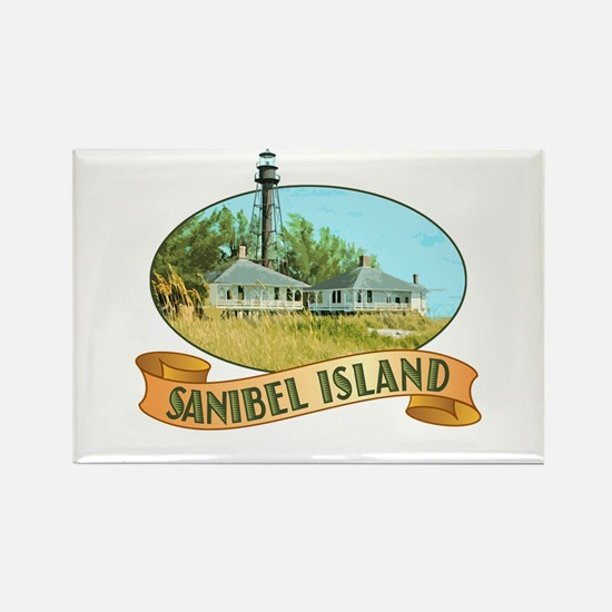 Sanibel Lighthouse - Rectangle Magnet