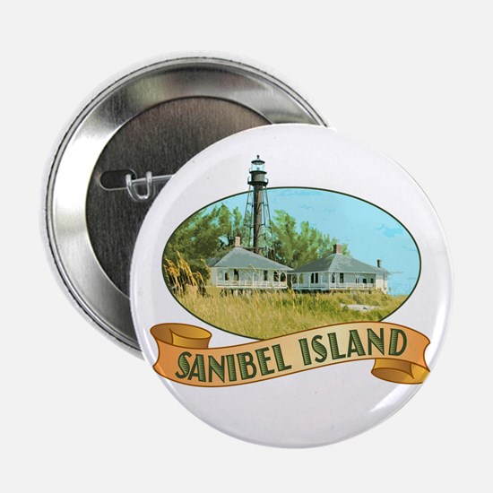 "Sanibel Lighthouse - 2.25"" Button"