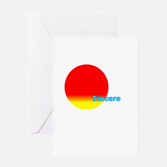 Sincere Greeting Card