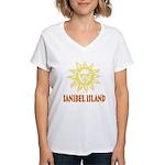 Sanibel Sol - Women's V-Neck T-Shirt