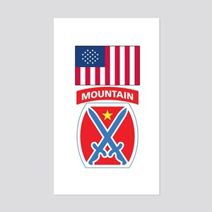 10th Mountain Rectangle Sticker