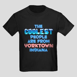 Coolest: Yorktown, IN Kids Dark T-Shirt