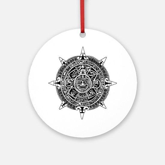 Aztec Round Ornament