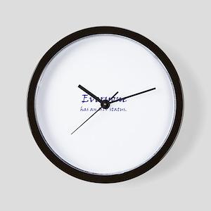 EVERYONE HAS AN HIV STATUS Wall Clock