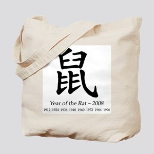 Year of the Rat Chinese Character Tote Bag