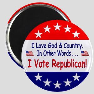 """I Vote Republican 2.25"""" Magnet"""