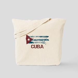Cuba Grunge Flag Tote Bag