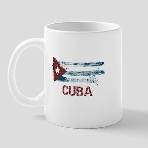 Cuba Grunge Flag Mug