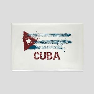 Cuba Grunge Flag Rectangle Magnet