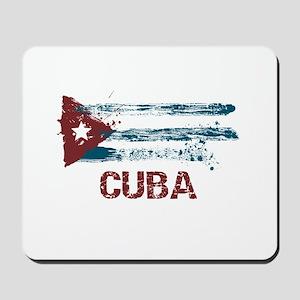 Cuba Grunge Flag Mousepad