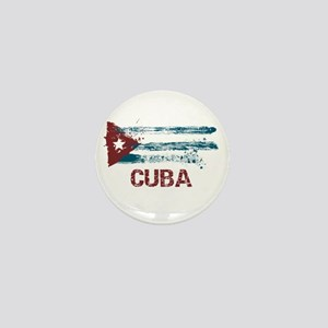 Cuba Grunge Flag Mini Button