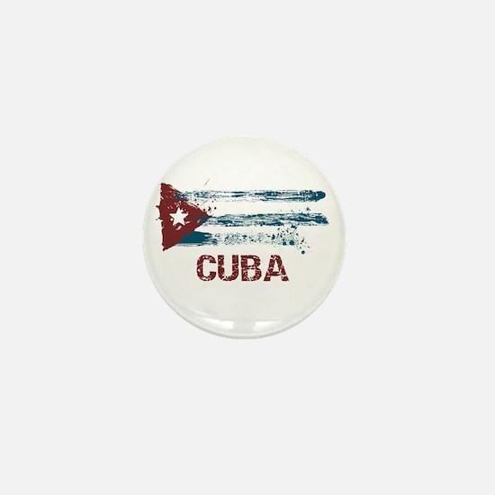 Cuba Grunge Flag Mini Button