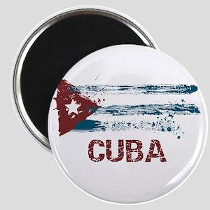Cuba Grunge Flag Magnet