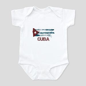 Cuba Grunge Flag Infant Bodysuit