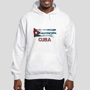 Cuba Grunge Flag Hooded Sweatshirt