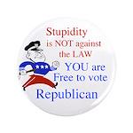 """you are free 2 vote republica 3.5"""" Button (100 pac"""