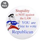 """you are free 2 vote republica 3.5"""" Button (10 pack"""