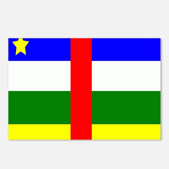 Flag of Central African R Postcards (Package of 8)
