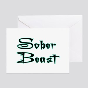 Sober Beast Blue Greeting Card