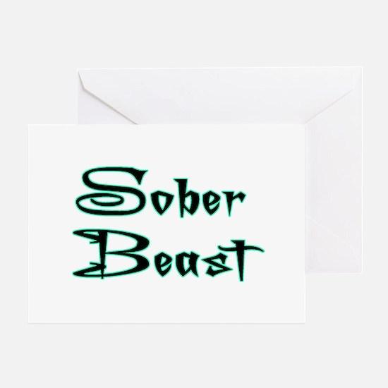 Sober Beast Blue Greeting Card