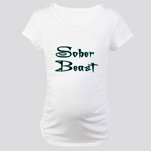 Sober Beast Blue Maternity T-Shirt