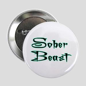 """Sober Beast Blue 2.25"""" Button"""