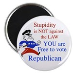 """you are free 2 vote republica 2.25"""" Magnet (100 pa"""