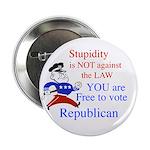 """you are free 2 vote republica 2.25"""" Button"""