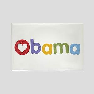 Obama Heart Rectangle Magnet