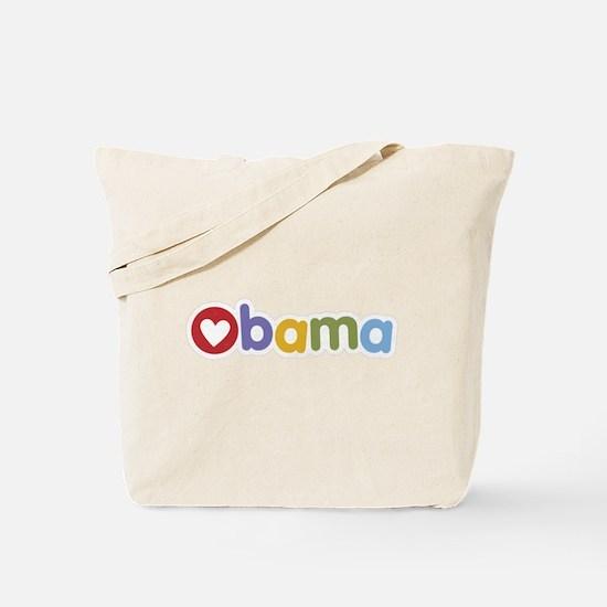Obama Heart Tote Bag