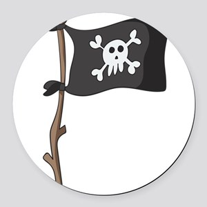 Pirate Round Car Magnet