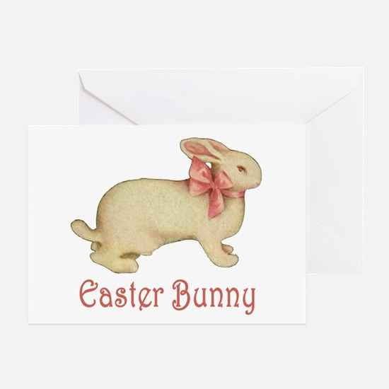 PLUSH EASTER BUNNY Greeting Card