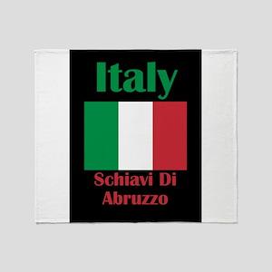 Schiavi Di Abruzzo Italy Throw Blanket